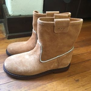 Zara kids leather boots